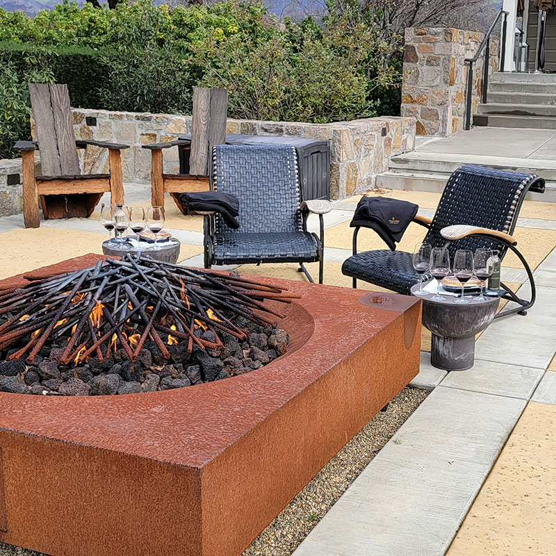 Fire pit at the Trinchero tasting room